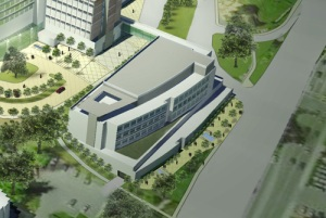 RIH trees will be replaced with a building that will look something like this. (Image from RIH Master Plan)