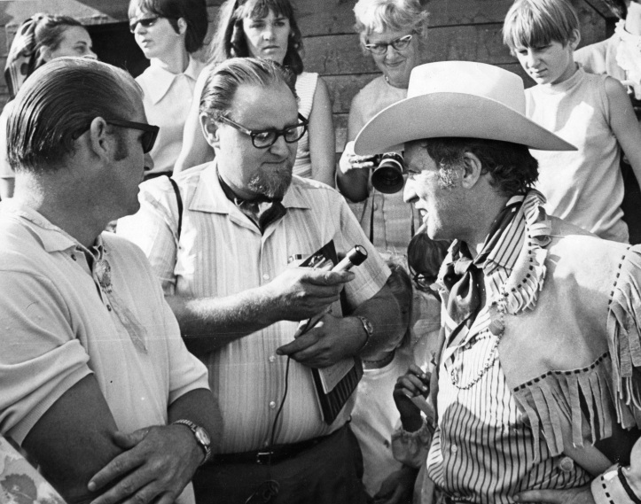 Egby interviews soon-to-be Prime Minister Pierre Trudeau in late 1960s.