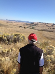 At the Ajax open-pit site, looking toward Knutsford.