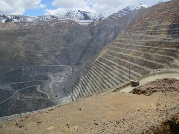 Rio Tinto's mine 30 miles from Salt Lake City.
