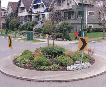Bicycle-friendly roundabout like this one may be built at Nicola-12th intersection.