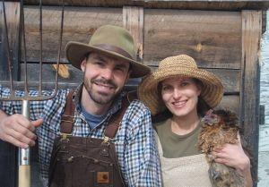 Dan and Jody Spark, out on the farm.