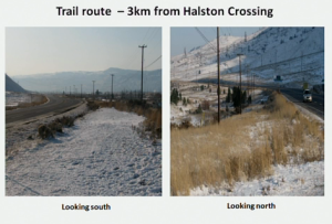 Views of proposed trail route.