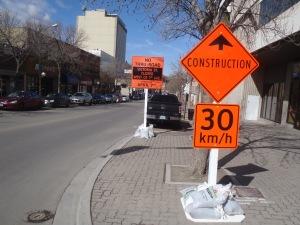 The 100 block Victoria Street heading towards First Avenue.