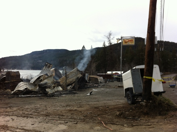 What's left of Pinantan General Store. (Tracy Gilchrist photo)