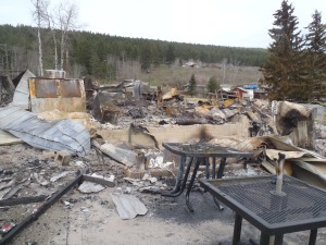 Site of Pinantan General Store on Monday.