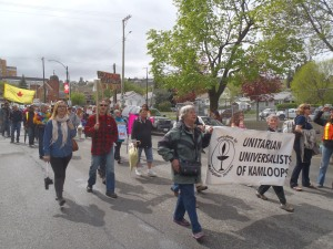 Walk for Peace gets underway.