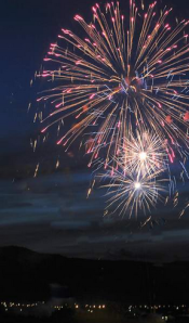 There'll be fireworks today  (Canada Day).