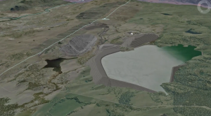 Jacko Lake, proposed tailings pond, Lack le Jeune Road. (Ajax video)