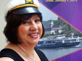 Captain Judy says chances of winning river cruise are pretty good.