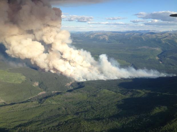 Red Deer fire near Tumbler Ridge. (Wildfire Management Branch photo)