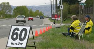 Keeping an eye on drivers. (City of Kamloops photo)