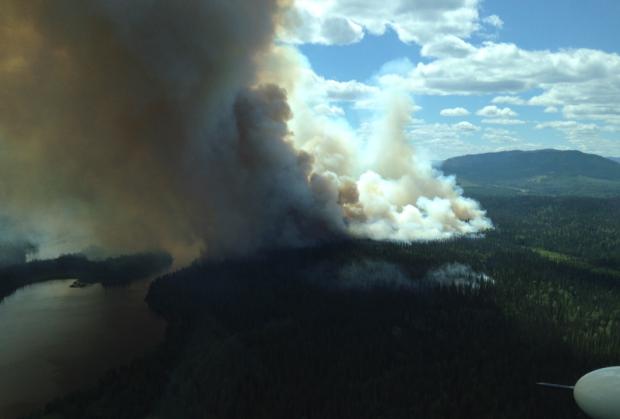 Euchiniko Lakes wildfire. (Wildfire Management photo)