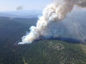 Maka-Murray wildfire. (B.C. Wildfire Management photo)