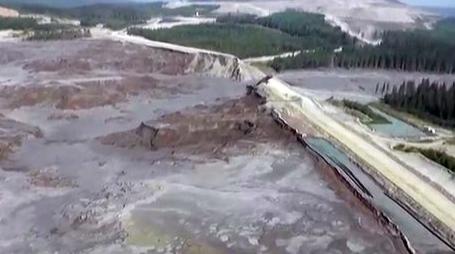 Video of breach taken by Cariboo Regional District.