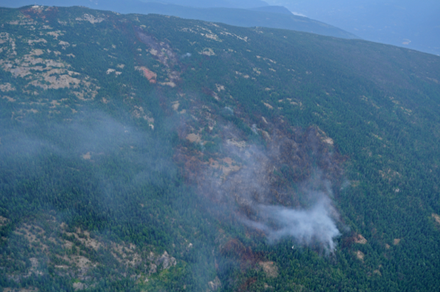 Fire near Slocan Park is 40 per cent contained. (Wildfire Management Branch)