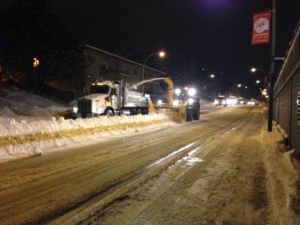 Past week has been busy for snow-clearing crews.