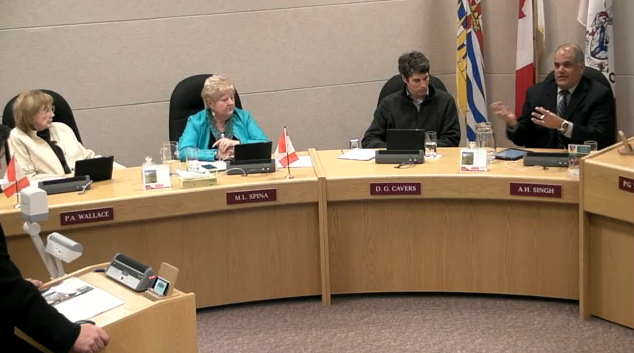 Council speaking with Byron McCorkell.