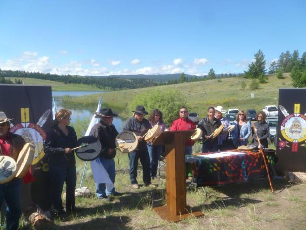 Sovereignty ceremony at Jacko Lake on Sunday.