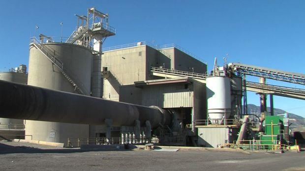 Lafarge plant in Kamloops. (CFJC Today image)