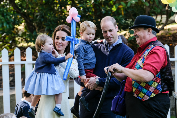 Royals attended kids' party as a family, but George and Charlotte went to a playground while parents were elsewhere. (BCGovt photo)