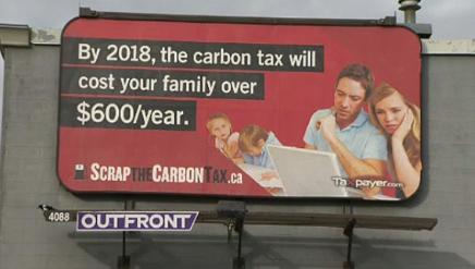 Canadian Taxpayers Federation billboard.