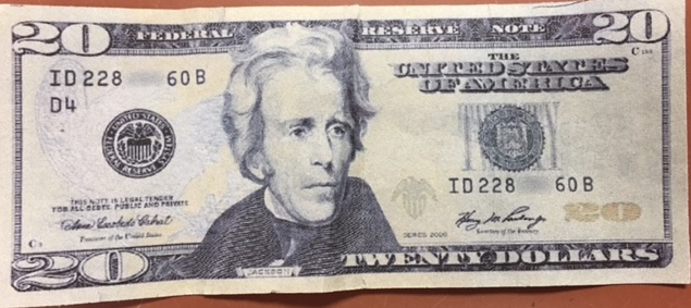 One of the counterfeit bills that was circulating in Kamloops.