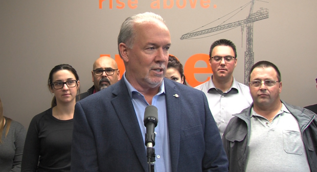 NDP leader John Horgan.