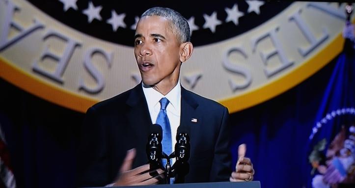 President Barack Obama says goodbye. (Screengrab)