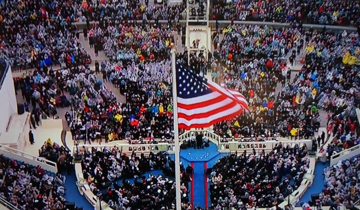 Trump at inauguration. So far, so good.
