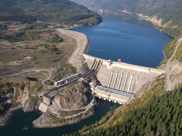 Revelstoke dam. (BC Hydro photo)