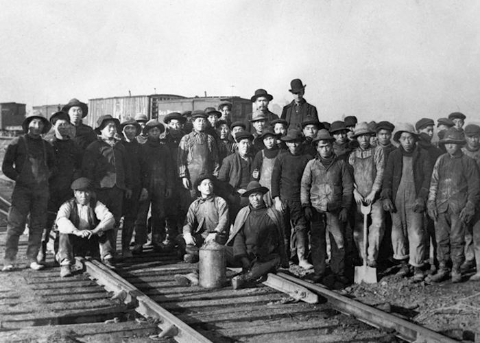 Chines workers helped build national railroad.