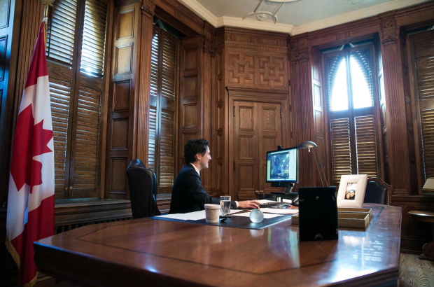 Prime Minister Justin Trudeau in his office.