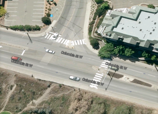Area in which pedestrian was hit. (Google Maps)