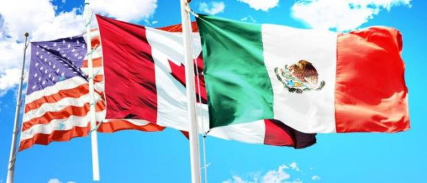 Flags of NAFTA. (ustra.com)