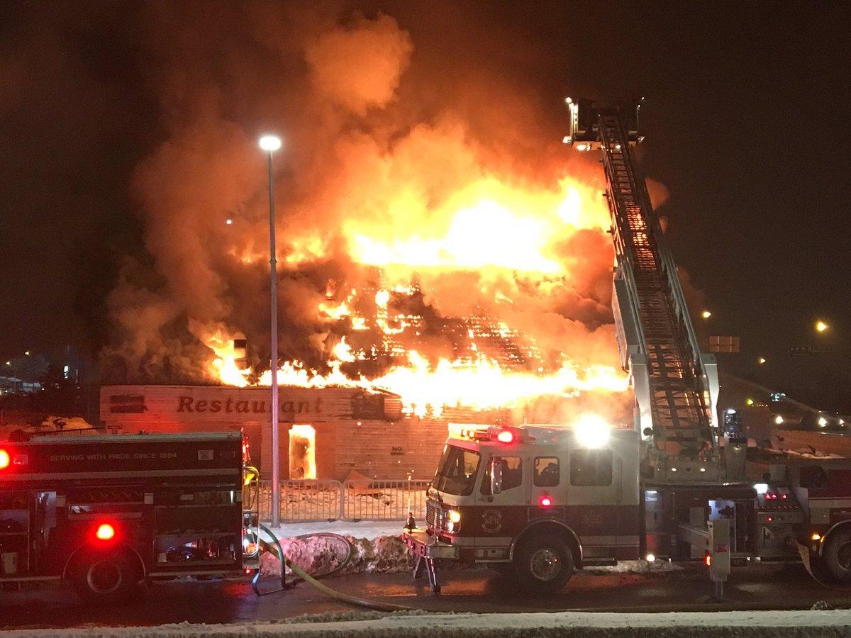 Police Fire Abandoned Brass Kettle Restaurant Burns To